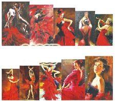Nail Art Calcomanías Traslados Pegatinas señoras vestido rojo (A-1017)