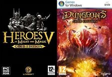 Heroes of Might and Magic V Gold Edition & dungeons gold edition  new&sealed