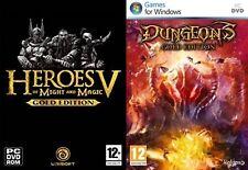 Heroes of Might & Magic V Gold Edition & Mazmorras Oro Edición Nuevo Y Sellado