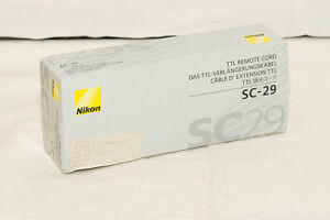 NIKON SC-29 TTL Coiled Remote Cord – Boxed for Parts Only FSG02701