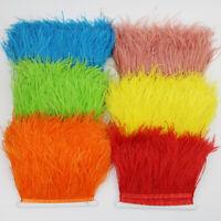 Feather Trim Fringe Fluffy Edge Sewing Decor Crafts Dance Costume Dress Curtain