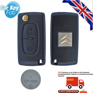 fits Citroen C2 C3 C4 Remote Control Key Fob 2 Button Case + battery CE0523 VA2