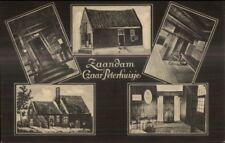 Zaandam Netherlands Czaar Peterhuisje c1910 Multi-View Postcard