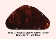 1999 SG Transparent Tortoise Rear Cavity Control Cover made for Gibson Project
