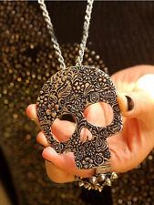 Men Punk Stylish New Jewelry vintage skull Pendant Fashion Alloy Bronze Necklace