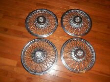 Heavy set/4  - Original Chevrolet wire spoke wheel covers hubcaps