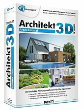 Architekt 3D X9 Professional CD/DV Win Haus Appartement Garten EAN 4023126118721