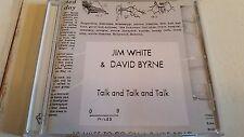 JIM WHITE & DAVID BYRNE TALK AND TALK AND TALK 18 TRACK PROMO CD TALKING HEADS