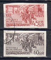 PL Polen 1952 Mi.-Nr. 779B - 780B Oktoberrevolution gestempelt o