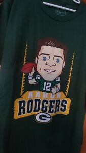 Green Bay Packers Graphic Aaron Rodgers Youth L T-shirt Proline Fanatics🏈🧀RARE