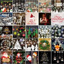 Christmas Window Wall Stickers Decals Santa Snowman Home Shop Xmas Decoration