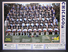Vintage 1984 Chicago Sun Times Promo Poster Chicago Bears Team Photo 17 x 22 5/8