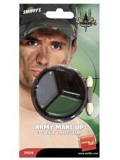 Smiffys Militar Maquillaje Camuflaje con Aplicador Pintura Facial (30928)
