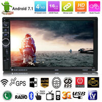 """7"""" 2 DIN Quad Core Android Bluetooth Car MP5 MP3 Stereo Radio Player GPS Navi"""