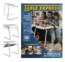 EXPRESS TABLE MATE PORTABLE  L SHAPE DINNER LAPTOP TRAY ADJUSTABLE FOLDING DESK