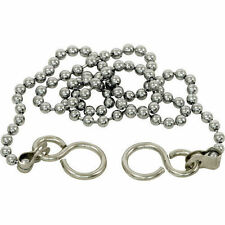 "18"" BATH BALL PLUG CHROME CHAIN FOR BASIN BATHROOM S HOOK ENDS"