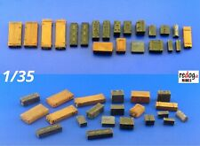 1/35 Ammunition Boxes & Crates Mix Military Scale Model Stowage Kit 6
