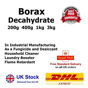 BORAX Sodium Tetraborate Decahydrate Slime Activator Stains Remover UK Seller