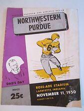 1949 PURDUE VS NORTHWESTERN FOOTBALL - OFFICIAL GAME PROGRAM - BOX C