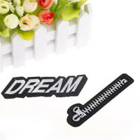 zipper embroidered sew iron on patches badge fabric applique clothes craft BR