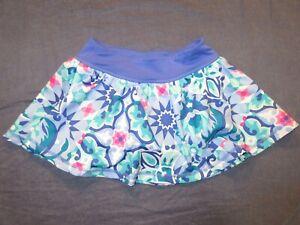 Girls GYMGO Gymboree SKIRT/SKORT - Sz 7-8 - Athletic/Tennis/Golf - Blue Floral