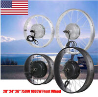 """20 24 26"""" 750W 1000W Front Wheel Electric Bicycle Fat Tire Motor Conversion Kit"""