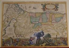 ISRAEL HOLY LAND 1688 NICOLAS VISSCHER UNUSUAL ANTIQUE COPPER ENGRAVED MAP