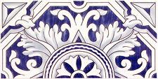 "Fliesen aus Spanien ""Aral"", klassische Wandfliese 14x28 cm, Ornamentmuster"