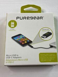 PureGear 2x Micro USB to USB-C Adapters