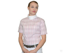 PIKEUR Damen-Turnierbluse Shirt weiß-pink-grau kariert Gr. 46 NEU % Sale %