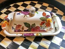 Mackenzie Childs White Flower Market Butter Dish New with tags!