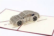 3D car greeting card,sedan shaped pop-up card,lovely greeting card