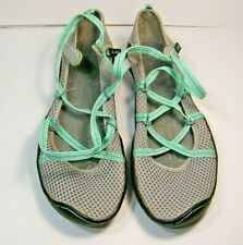 J-41 Walking Shoes Womens Mint Green Turquoise Grey Rubber Sole 7 Narrow