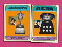 1974-75 OPC BRUINS PHIL ESPOSITO + JOHN BUCYK TROPHY  CARD (INV# C2601)