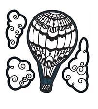 Darice Craft Dies HOT AIR BALLOON w/CLOUDS 4 pieces Die Cut Embossing Stencil