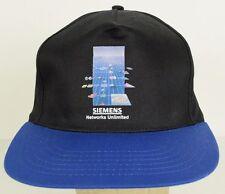 Siemens Networks Unlimited Engineering Blue Bill Black Baseball Hat Cap Snapback