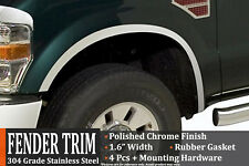 2008-2010 Ford F-250 F-350 Super Duty Stainless Steel Fender Trim Wheel Molding