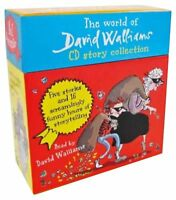 David Walliams 5 Audio Book CD Collection Gift Box Set Ratburger Mr Stink Granny
