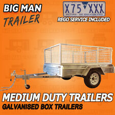6x4 SINGLE AXLE Registration Included BOX TRAILER GALVANISED CAGE HEAVY DUTY NEW