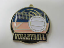 """Volleyball gold medal  2"""" diameter colorful, with neck ribbon, engraved"""