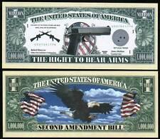LE 2nd AMENDEMENT US BILLET MILLION DOLLAR! Collection Histoire Arme à Feu armée