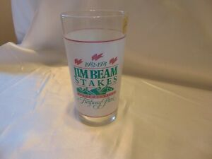 Jim Beam Stakes Horse Race Glass Turfway Park 10 Year 1982-1991