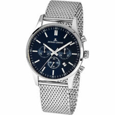 Jacques Lemans Men's Classic 1-2025H 42mm Blue Dial Stainless Steel Watch