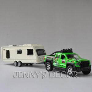 Diecast Car Model Toy Ford F150 Pickup Truck Trailer Camper Van Boat ATV Vehicle