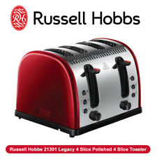 NEW Russell Hobbs 21301 Legacy 4 Slice Polished 4 Slice Toaster Red