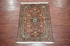 Persian 4X6 Sarouq Antique Hand-Knotted Wool Area Rug Oriental Carpet *4.1 x 6.1