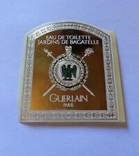 """GUERLAIN """"BAGATELLE"""" ETIQUETTE GRANDE ANCIENNE PAPIER  PARFUM  PERFUME LABEL"""