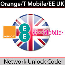 Orange/T Mobile/EE UK Network Unlock Code (for All Models EXCEPT iPhone)