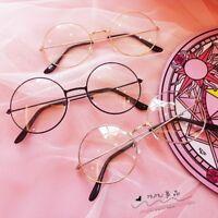 874b49d05e67 Lolita JK Round Frame Glasses Silver Black Golden Color Frame Fashion  Glasses