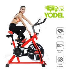 Exercise Spinbike Aerobic Indoor Studio Spinning Bike Home Cardio Fitnessmachine 10kg Red